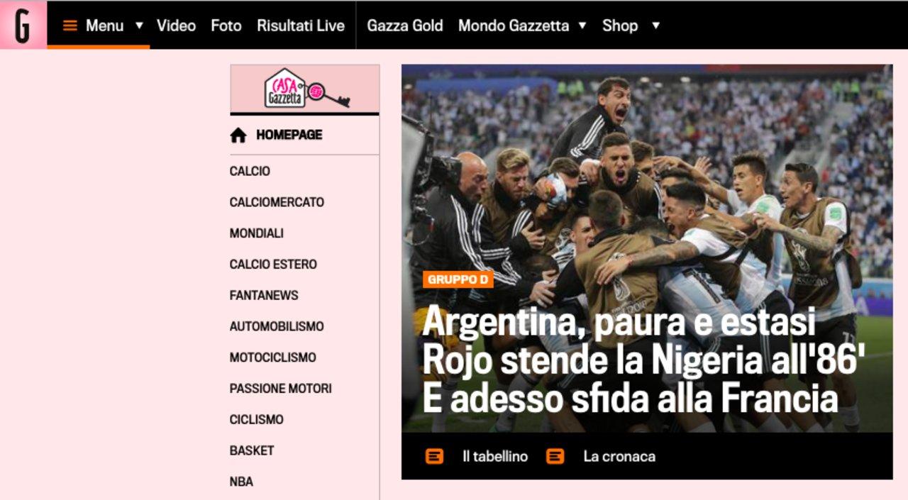 La Gazzetta dello Sport, Italia.