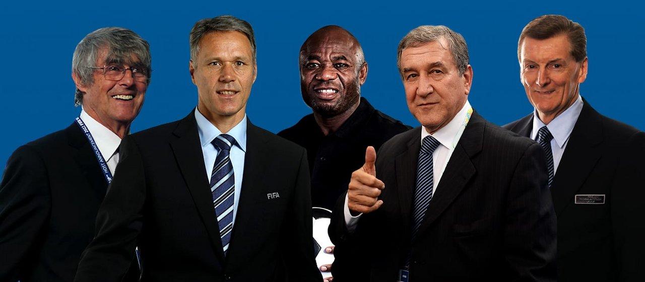 El Grupo de Estudio Técnico de la FIFA en Rusia 2018. Los encargados de elegir a los ganadores de los premios individuales.