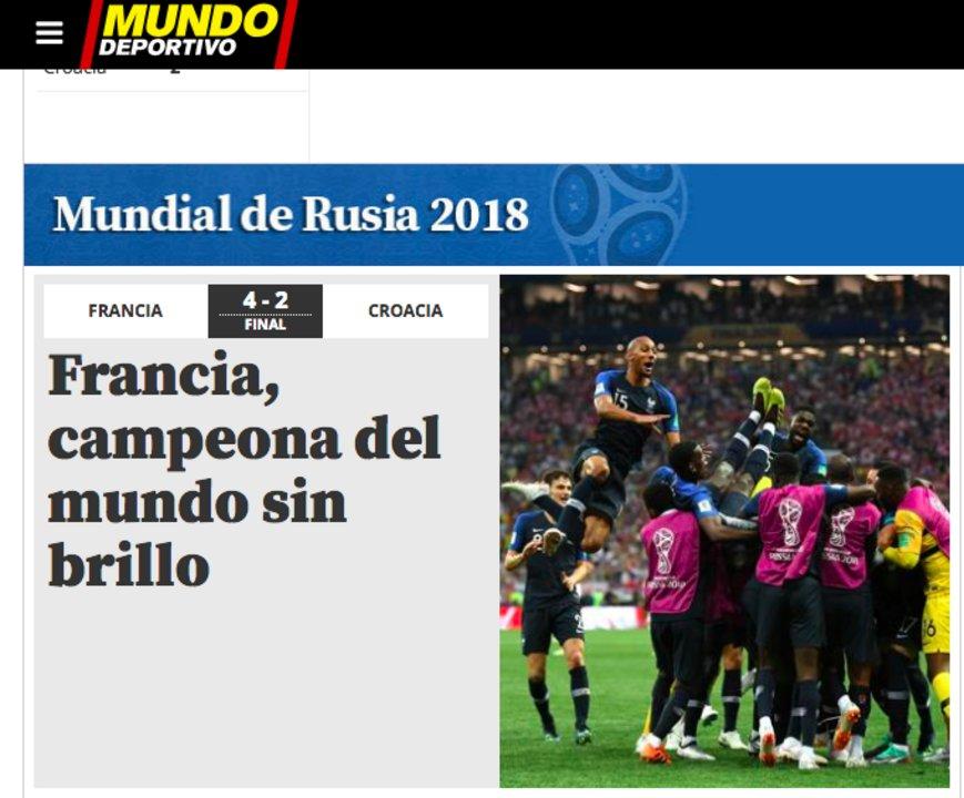 Mundo Deportivo, España.