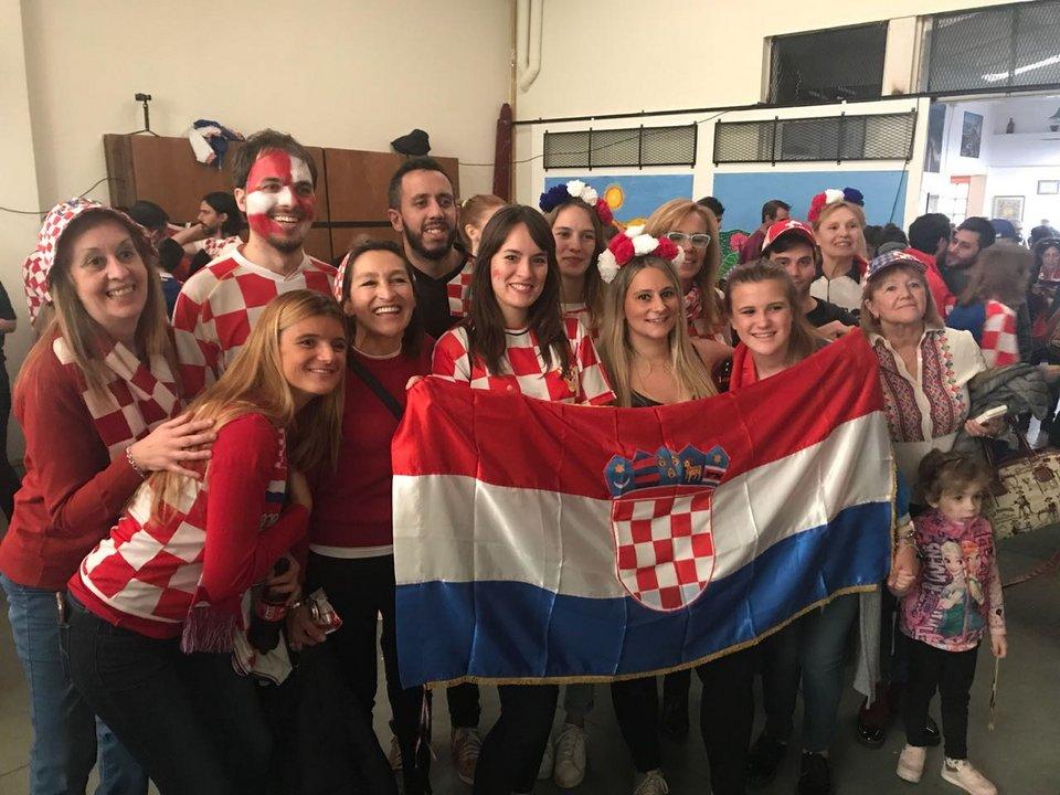 Los croatas en Buenos Aires se sienten campeones del Mundo.
