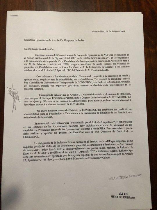 Primera parte de la carta presentada por Abulafia