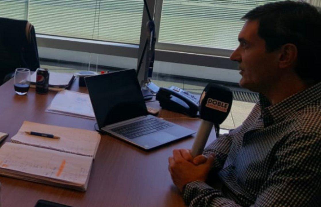 El presidente de la Superliga, Mariano Elizondo, durante la entrevista con Doble Amarilla.