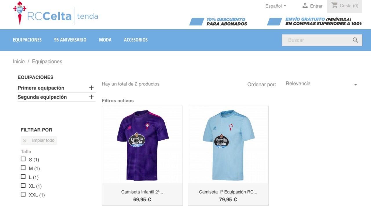 El elenco gallego vende la camiseta en su Tienda Virtual.