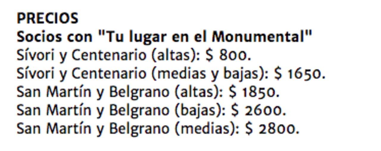 """""""Tu Lugar en el Monumental"""" tiene estos precios para la revancha de la final de la Copa Libertadores de América."""