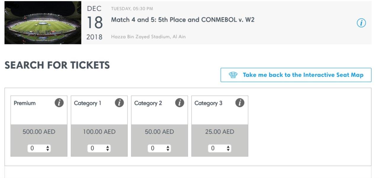 Hay entradas disponibles para la semifinal del torneo, pero no para la final.