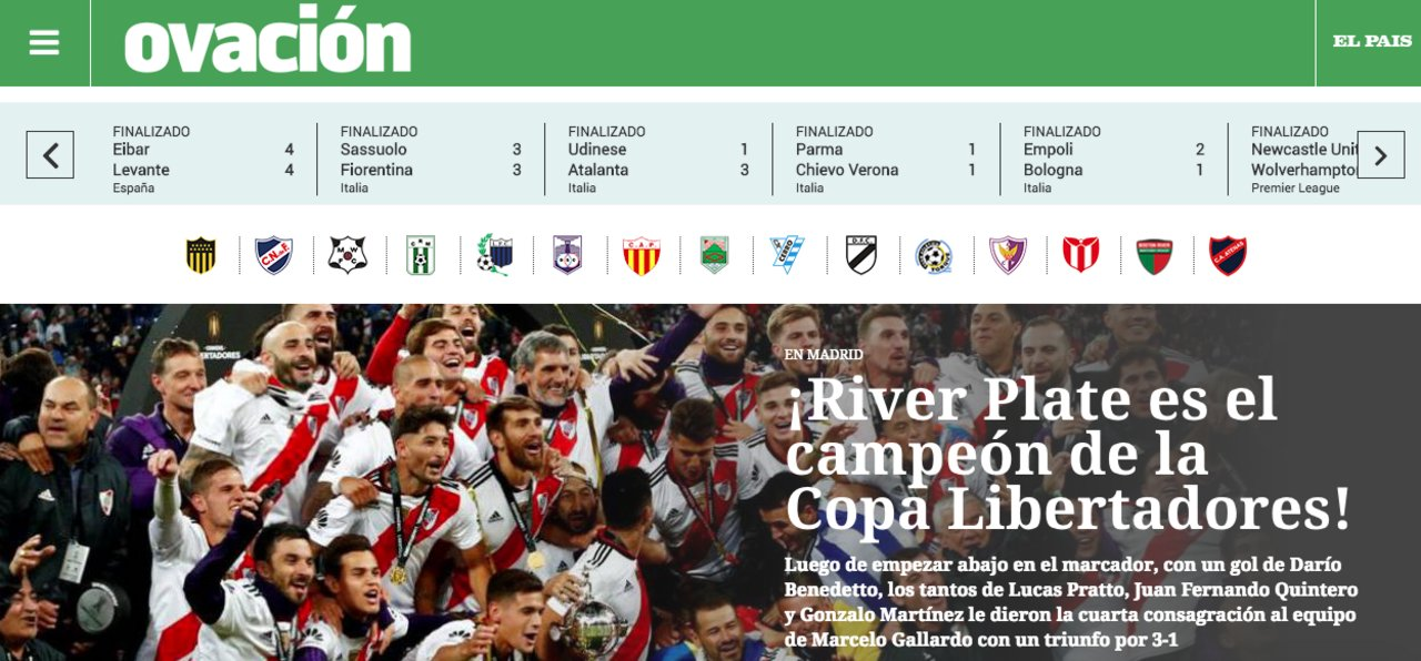 """Diario """"Ovación"""" (Uruguay)"""