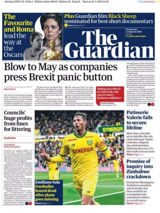 """""""The Guardian"""" también le dio su espacio."""