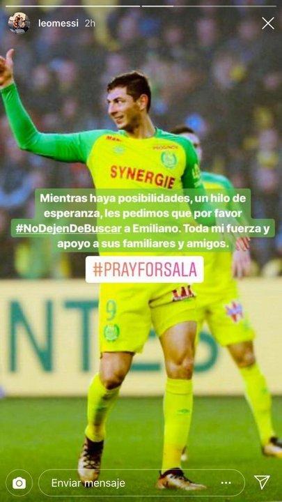 Este posteo Lionel Messi en su Instagram.