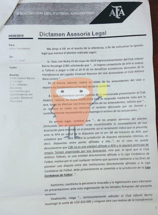 Dictamen de Asesoría Legal 01