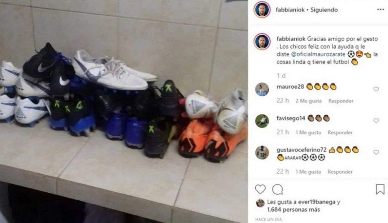 El posteo de Fabbiani, en Instagram.