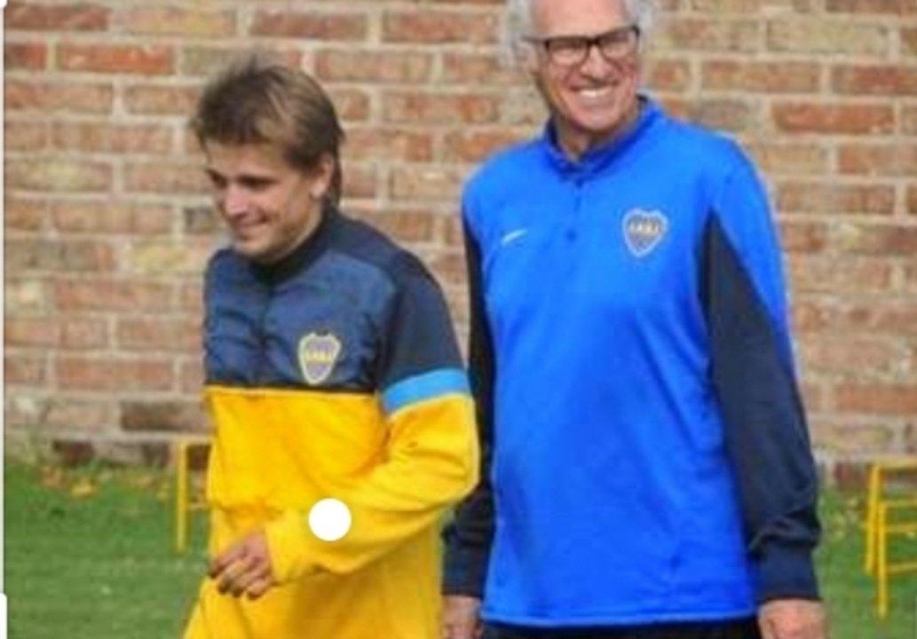 Vidal, en sus años en Boca.