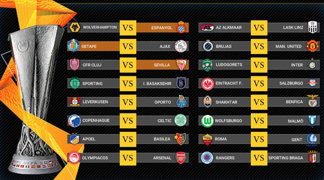 Los 16vos de la Europa League se las traen.