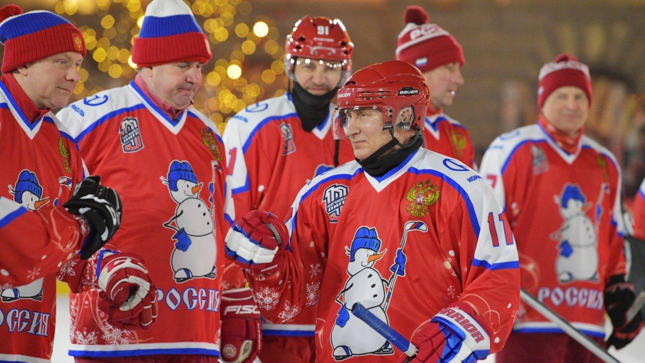 Vladimir Putin demostró que es el Messi del hockey sobre hielo