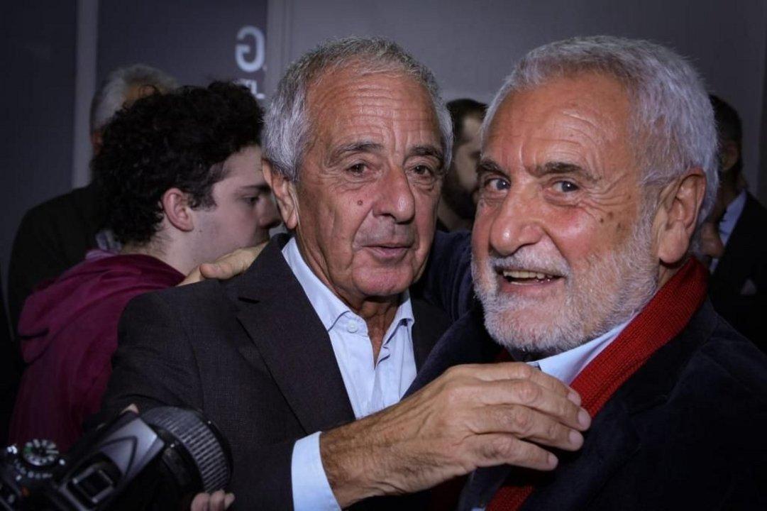 """D'Onofrio y Albistur en la presentación del film """"River, el más Grande siempre"""""""