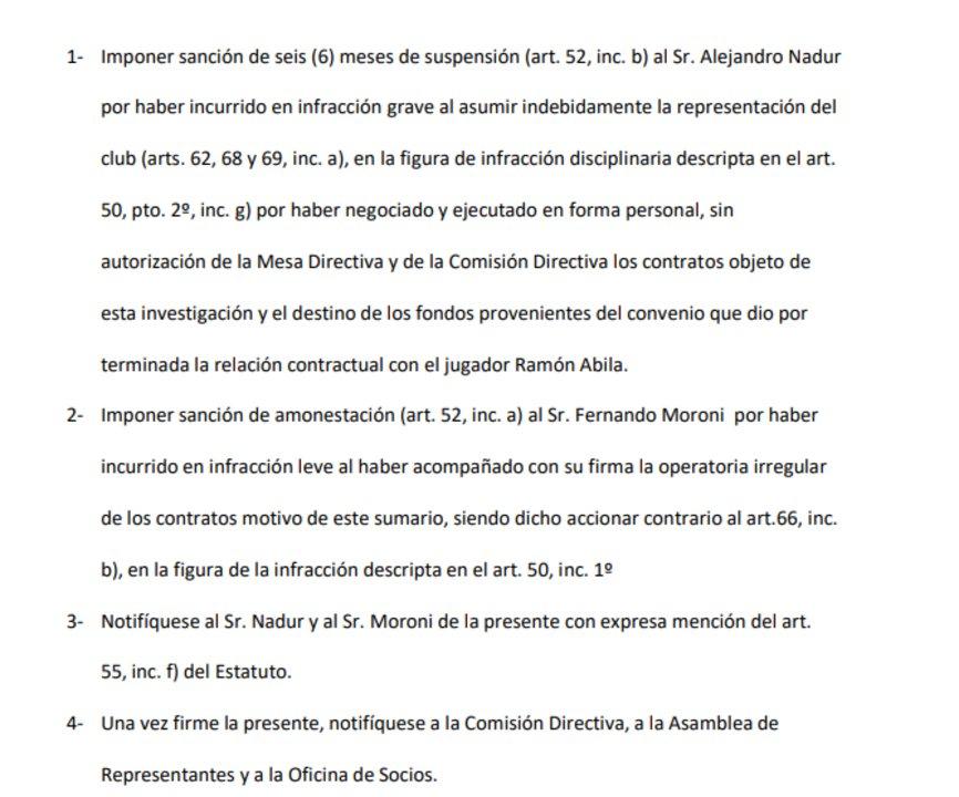 La resolución del Tribunal de Honor de Huracán