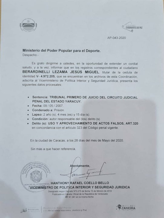 Presidente de FVF no pudo votar en Conmebol - noticiasACN