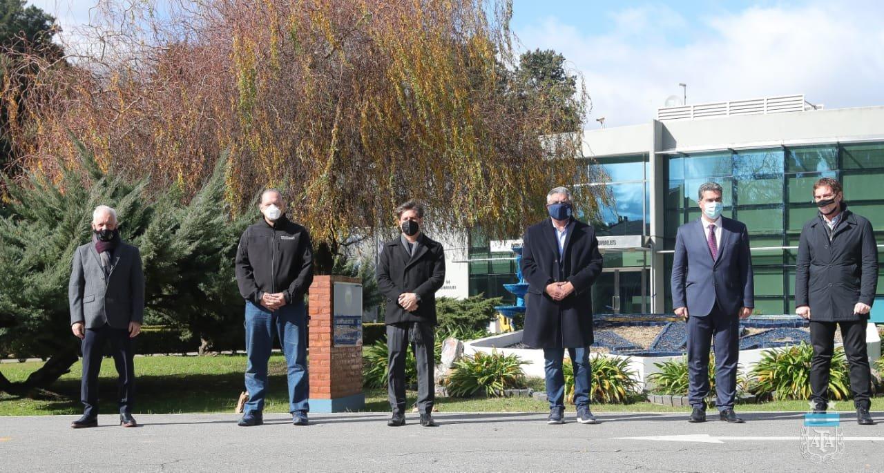 Foto oficial del encuentro en el predio de AFA, ubicado en Ezeiza