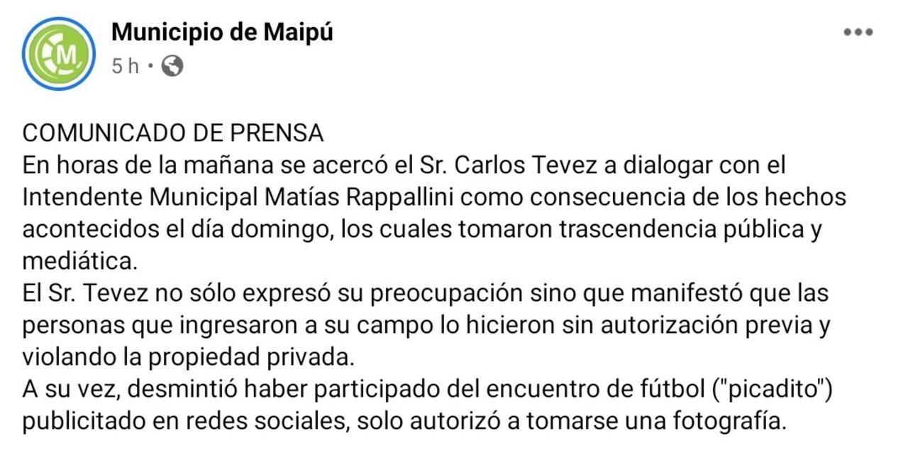 Facebook Municipio de Maipú