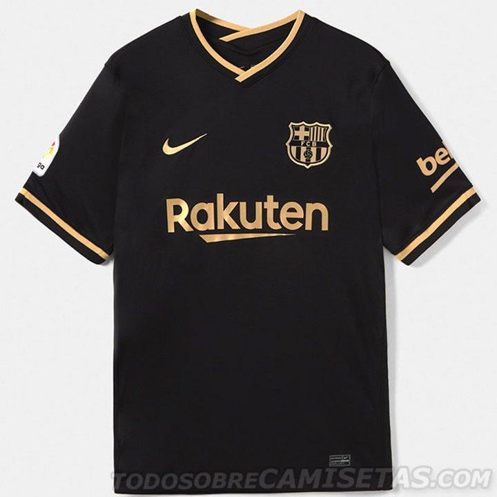 Nueva camiseta del Barça, negra y dorada.