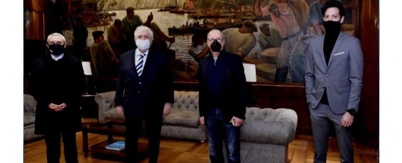 Ginés se reunió con Mazzacane para hablar de la vuelta del fútbol.