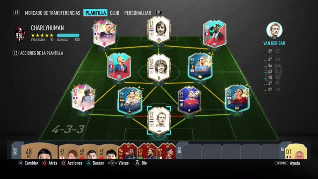 El equipo de San Lorenzo en FIFA 20