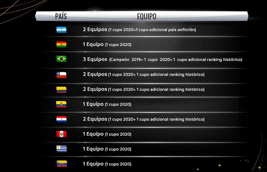 Los cupos por la próxima Copa Libertadores