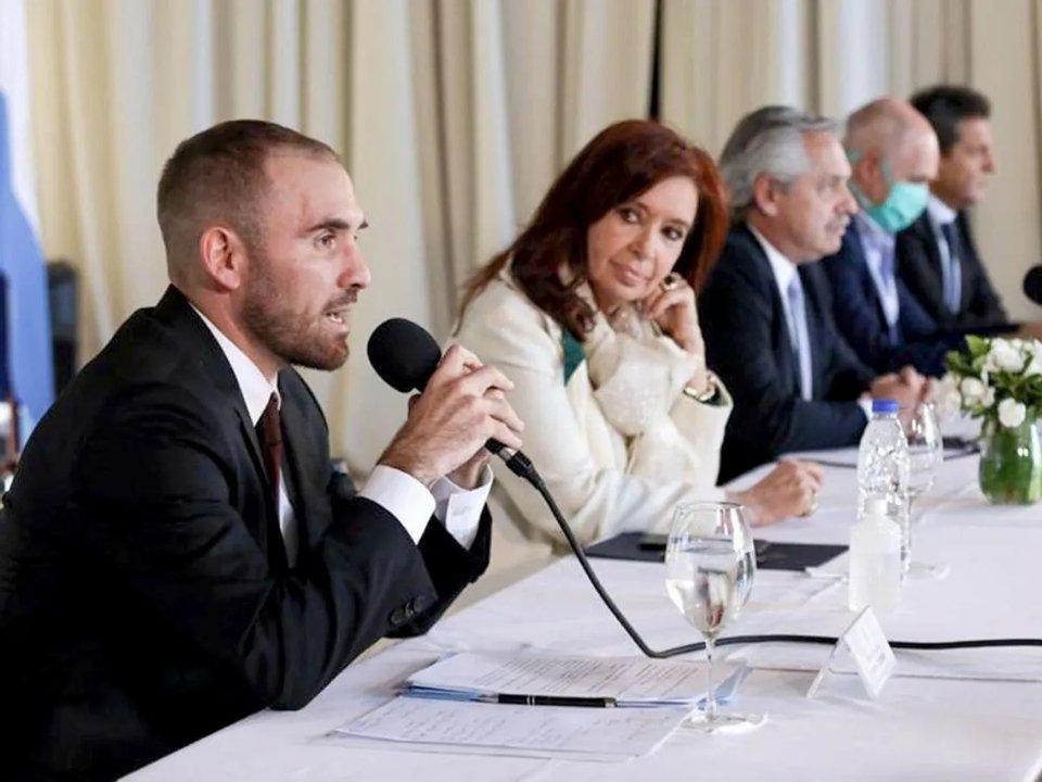Distancia entre Cristina Kirchner y Martín Guzmán