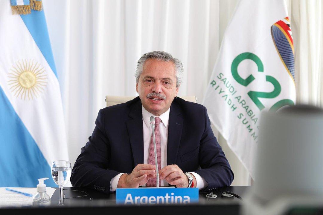 Más postales de Alberto Fernández en el G20