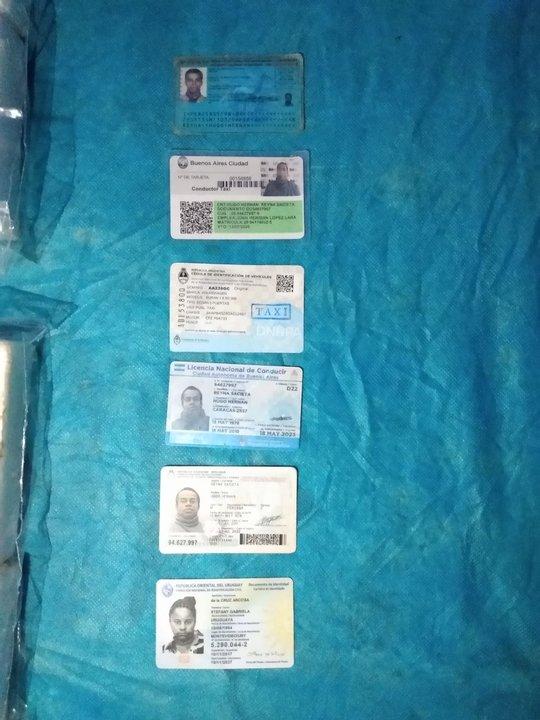 Documentación de los detenidos