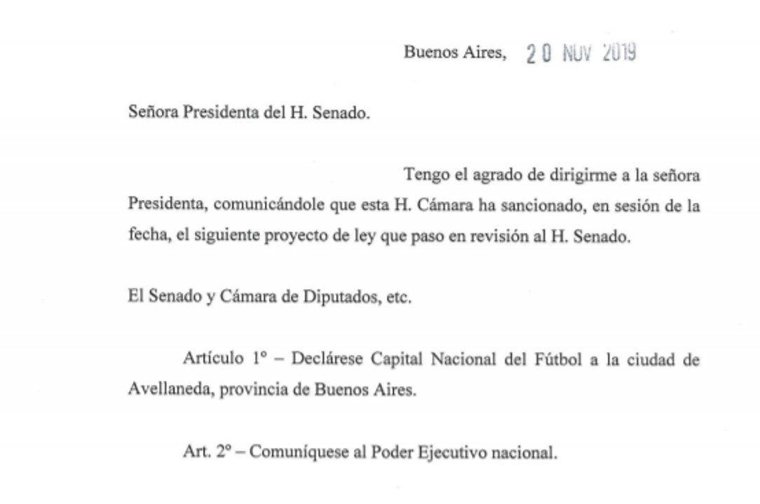 La aprobación que se dio en Diputados y el comunicado para que el proyecto sea tratado en el Senado