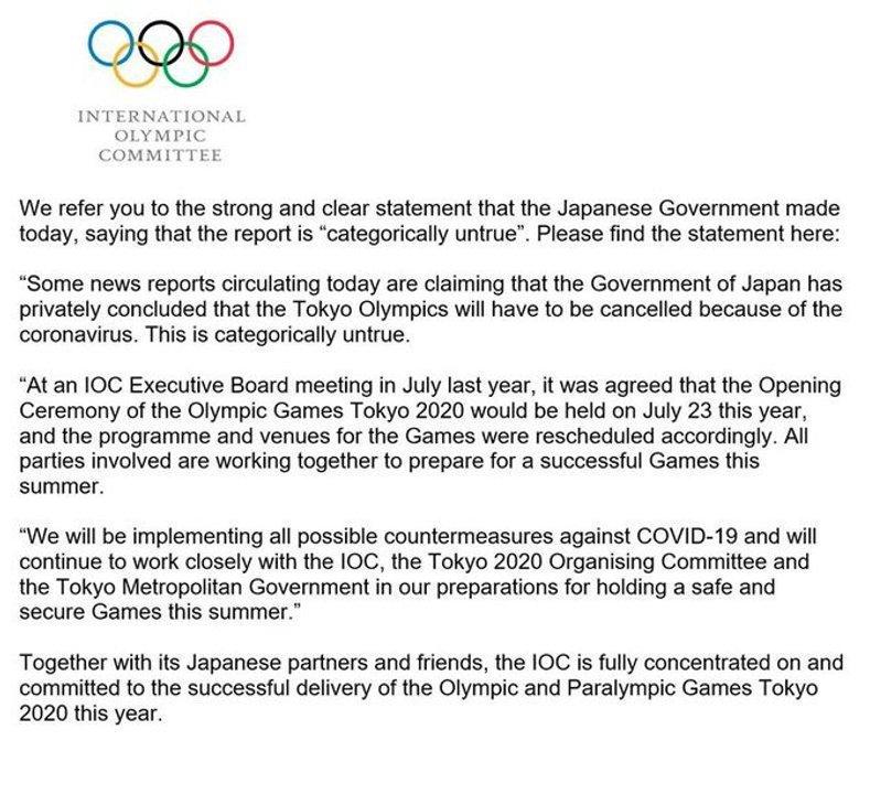 El COI mantiene a Tokio 2021 en pie.