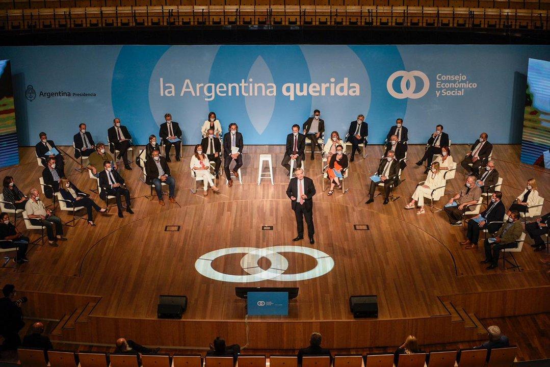 Foto del lanzamiento del Consejo Económico y Social