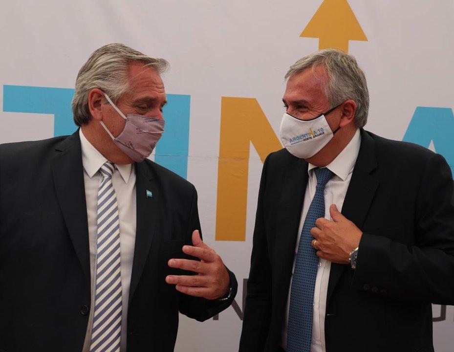 Buena relación entre el gobernador Morales y el presidente Fernández