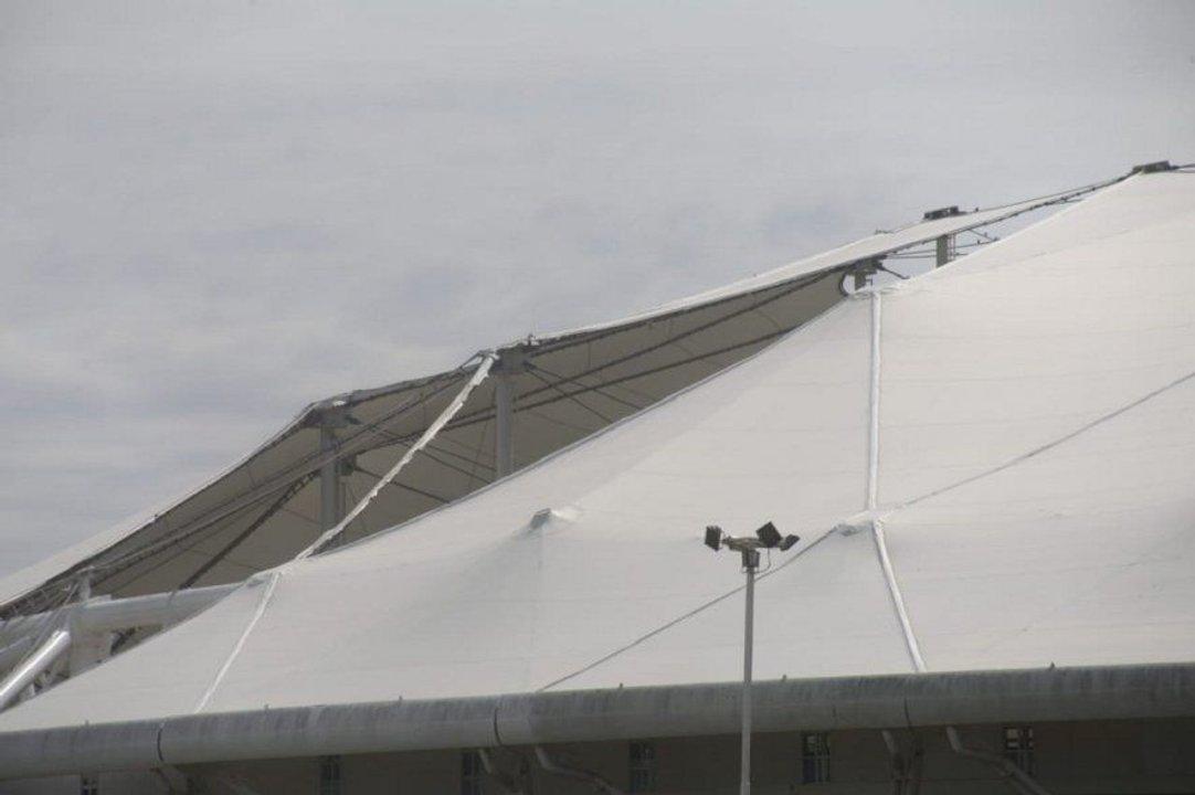 Uno de los agujeros en el techo del Único.